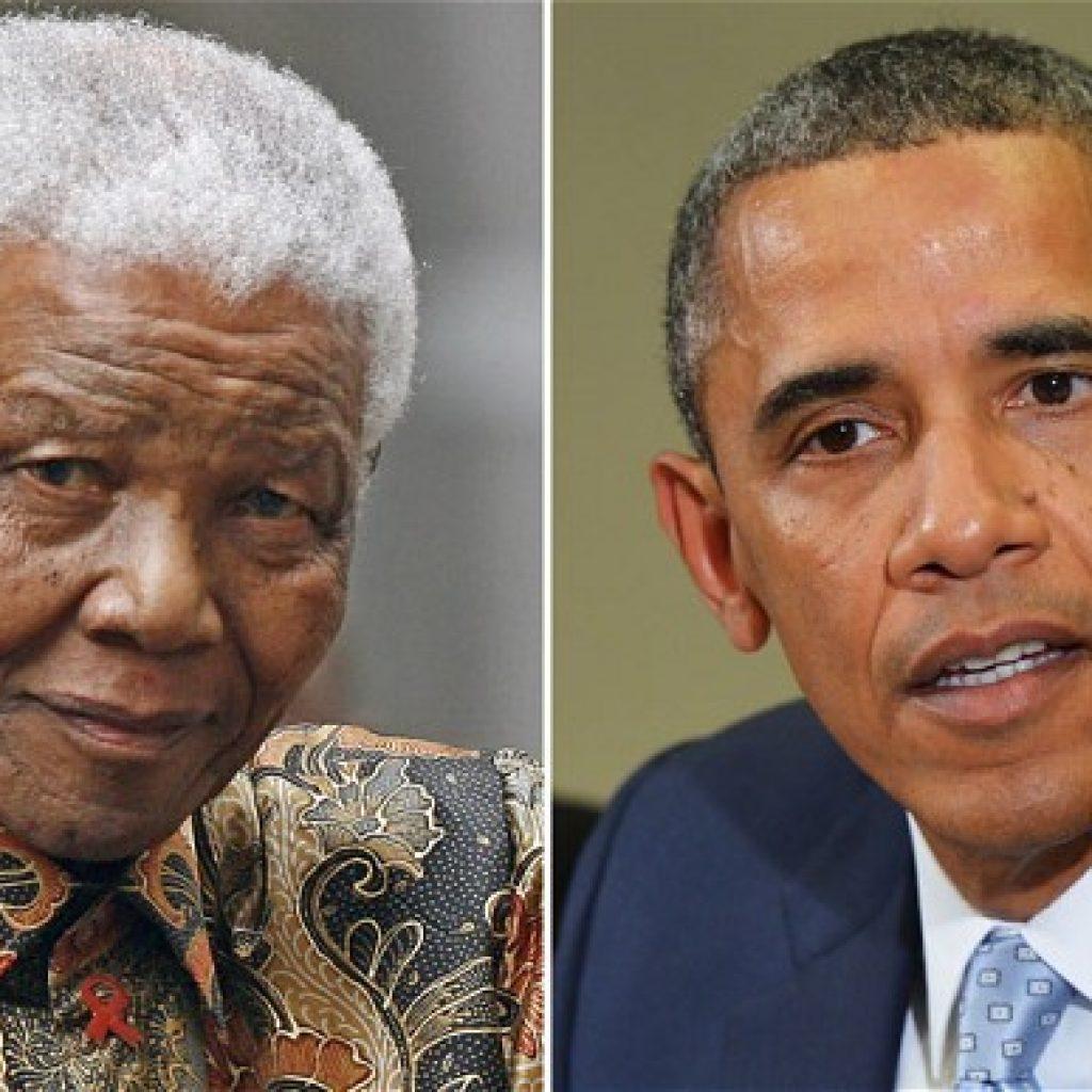 Mandela and Obama